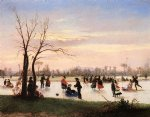 conrad wise chapman famous paintings - ice skating at twilight by conrad wise chapman