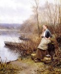 daniel ridgway knight art - a lovely thought by daniel ridgway knight
