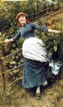 daniel ridgway knight acrylic paintings - a summer s folly by daniel ridgway knight