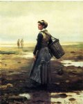 daniel ridgway knight original paintings - clamming by daniel ridgway knight