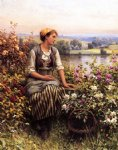daniel ridgway knight art - daydreaming by daniel ridgway knight