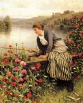daniel ridgway knight art - fishing ii by daniel ridgway knight