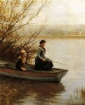daniel ridgway knight art - fishing by daniel ridgway knight