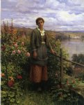 daniel ridgway knight in her garden painting