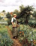 in the garden by daniel ridgway knight oil paintings
