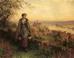 spring by daniel ridgway knight painting