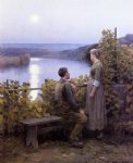 daniel ridgway knight original paintings - summer evening by daniel ridgway knight