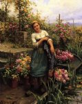 daniel ridgway knight original paintings - the flower boat by daniel ridgway knight