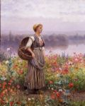 daniel ridgway knight the flower girl painting 83595