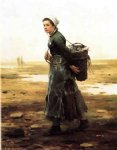 the oyster gatherer by daniel ridgway knight painting