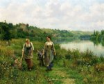 daniel ridgway knight original paintings - the seine at vernon by daniel ridgway knight