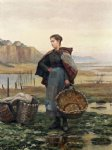 daniel ridgway knight original paintings - the young laundress by daniel ridgway knight