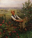 daniel ridgway knight original paintings - woman at rest by daniel ridgway knight
