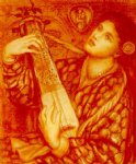christmas famous paintings - a christmas carol ii by dante gabriel rossetti