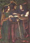 dante gabriel rossetti acrylic paintings - how they met themselves ii by dante gabriel rossetti