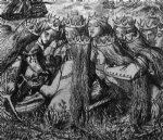 dante gabriel rossetti king arthur and the weeping queens painting