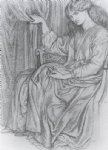 silence by dante gabriel rossetti painting