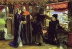 dante gabriel rossetti acrylic paintings - the first anniversary of the death of beatrice dante drawing the angel by dante gabriel rossetti
