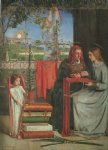 girl acrylic paintings - the girlhood of mary virgin ii by dante gabriel rossetti