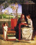 girl acrylic paintings - the girlhood of mary virgin by dante gabriel rossetti