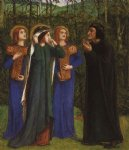 dante gabriel rossetti the meeting of dante and beatrice in paradise paintings