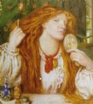 dante gabriel rossetti woman combing her hair paintings