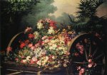 a cart of wild flowers by desire de keghel painting