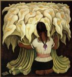 girl with lilies by diego rivera prints