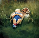best friends by donald zolan painting