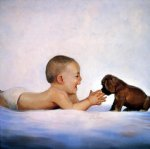 puppy time by donald zolan painting