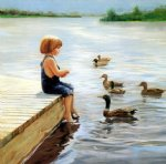 summer lake by donald zolan painting