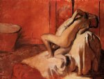 edgar degas after the bath 5 painting
