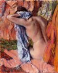 edgar degas after the bath vii painting