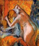 after the bath woman drying her hair by edgar degas prints