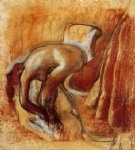after the bath woman drying herself 2 by edgar degas prints
