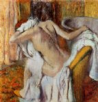 after the bath woman drying herself 5 by edgar degas prints