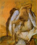 edgar degas after the bath woman drying herself painting