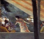 sad acrylic paintings - at the cafe des ambassadeurs ii by edgar degas