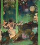 edgar degas at the cafe des ambassadeurs painting