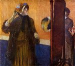 edgar degas at the milliner s ii painting