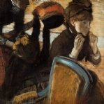edgar degas at the milliner s iv painting