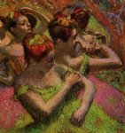 edgar degas ballerinas adjusting their dresses painting 35190