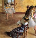 ballet acrylic paintings - ballet class the by edgar degas