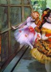 butterfly acrylic paintings - ballet dancers in butterfly costumes detail by edgar degas