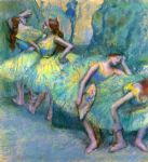 ballet acrylic paintings - ballet dancers in the wings by edgar degas