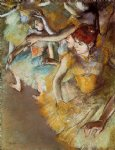 ballet acrylic paintings - ballet dancers on the stage by edgar degas