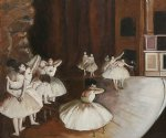 edgar degas ballet rehearsal on the stage posters