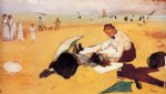 edgar degas beach scene art
