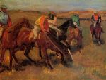 edgar degas before the race painting