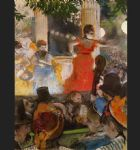 sad acrylic paintings - café concert at les ambassadeurs by edgar degas